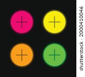 add four color glowing neon...