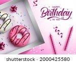birthday donut vector design.... | Shutterstock .eps vector #2000425580