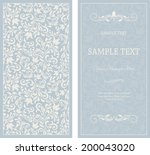 set of antique greeting cards ... | Shutterstock .eps vector #200043020