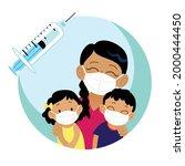 international vaccination... | Shutterstock .eps vector #2000444450