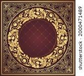 golden ornate floral decorative ... | Shutterstock .eps vector #2000471489