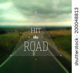 """hit the road"" poster. text in... 