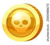 gold medal coin scull symbol....