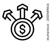 coins scheme icon. outline... | Shutterstock .eps vector #2000489816