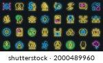 sociology icons set. outline... | Shutterstock .eps vector #2000489960