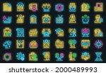 advertising agent icons set.... | Shutterstock .eps vector #2000489993