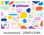 modern trendy abstract shapes...   Shutterstock .eps vector #2000513189