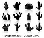 cactus silhouettes | Shutterstock .eps vector #200052293