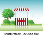 Vector Illustration Of A Stall...