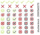 checkmark icons big set for web ...