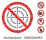 mosaic no aim icon united from... | Shutterstock .eps vector #2000563493
