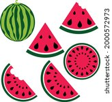 watermelon svg vector...   Shutterstock .eps vector #2000572973