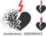 damaged pixelated break heart... | Shutterstock .eps vector #2000589623