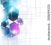abstract technology geometric... | Shutterstock . vector #200059223