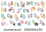 english alphabet with cute... | Shutterstock .eps vector #2000596190