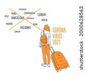 coronavirus. ban on entry to...   Shutterstock .eps vector #2000628563