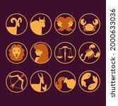zodiac sign set. astrology... | Shutterstock .eps vector #2000633036