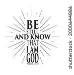 be still and know that i am god.... | Shutterstock .eps vector #2000644886