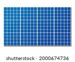 solar panel isolated on white... | Shutterstock .eps vector #2000674736