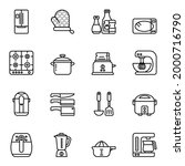 kitchen and cooking icons set 2 ...   Shutterstock .eps vector #2000716790