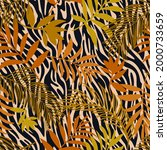 botanical seamless pattern...   Shutterstock .eps vector #2000733659
