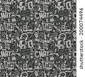 seamless doodle communication... | Shutterstock .eps vector #200074496