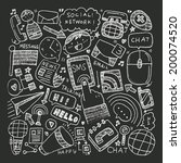 doodle communication background | Shutterstock .eps vector #200074520