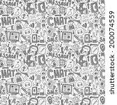 seamless doodle communication... | Shutterstock .eps vector #200074559