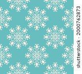 snowflake mandala pattern.... | Shutterstock .eps vector #2000762873
