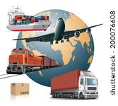 world wide cargo transport... | Shutterstock .eps vector #200076608