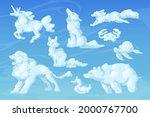 cloud animals  cartoon fluffy... | Shutterstock .eps vector #2000767700