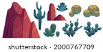 mountain rocks and cacti ... | Shutterstock .eps vector #2000767709