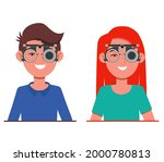 people vision checkup in... | Shutterstock .eps vector #2000780813