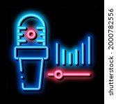 microphone audio waves neon...