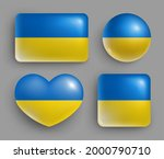glossy buttons with ukraine... | Shutterstock .eps vector #2000790710