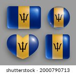 set of glossy buttons with... | Shutterstock .eps vector #2000790713