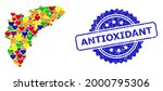 blue rosette rubber stamp with... | Shutterstock .eps vector #2000795306