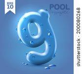 wet blue glossy vector font   g ... | Shutterstock .eps vector #200080268