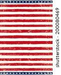 american grungy flag. an... | Shutterstock .eps vector #200080469