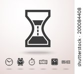 time clocks detailed vector...