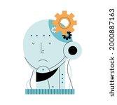 artificial intelligence head... | Shutterstock .eps vector #2000887163