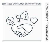 relationship marketing line...   Shutterstock .eps vector #2000897573