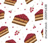 currant cake seamless pattern | Shutterstock .eps vector #200091638