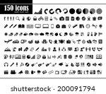 150 icons set   Shutterstock .eps vector #200091794