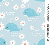 seamless pattern with whale... | Shutterstock .eps vector #2000927270