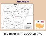 political map of arkansas in... | Shutterstock .eps vector #2000928740