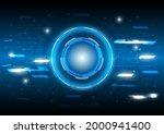 lines and dots. futuristic sci...