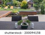 a small bonsai sits on a... | Shutterstock . vector #200094158
