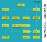 corporate organization chart... | Shutterstock .eps vector #200095628