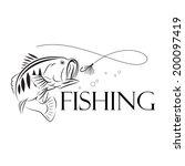 vector fishing design... | Shutterstock .eps vector #200097419